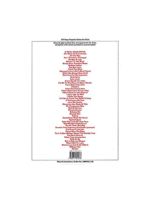 50 Easy Popular Solos For Flute Flute Sheet Music Sheet Music