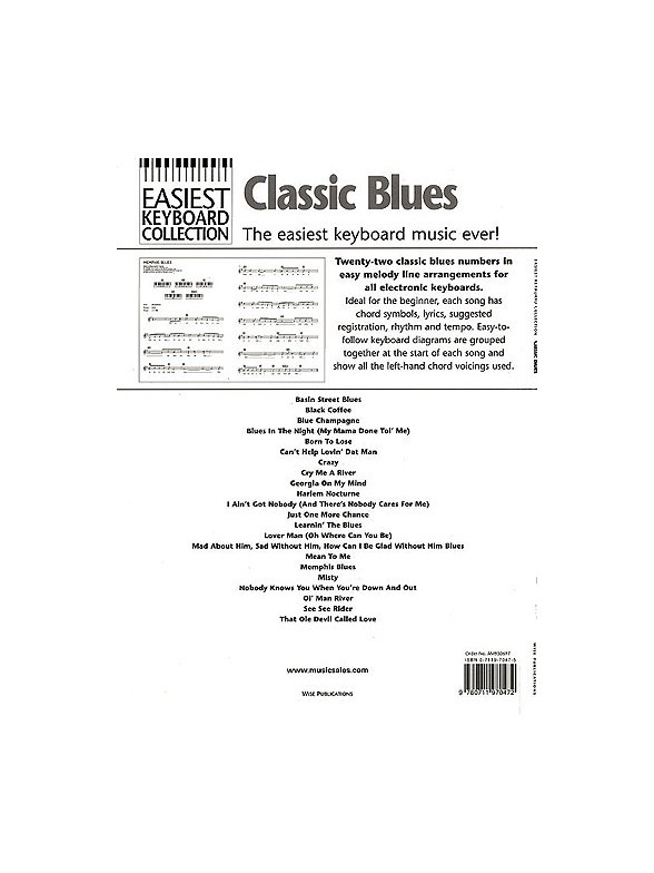 Easiest Keyboard Collection Classic Blues Melody Line Lyrics