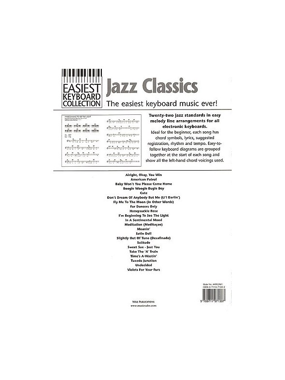 Easiest Keyboard Collection Jazz Classics Melody Line Lyrics