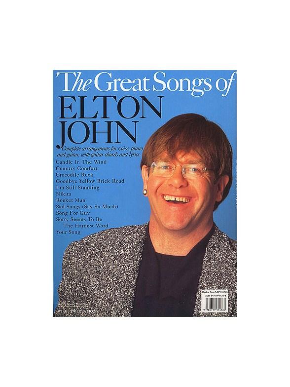 The Great Songs Of Elton John - Piano, Vocal & Guitar Sheet Music ...