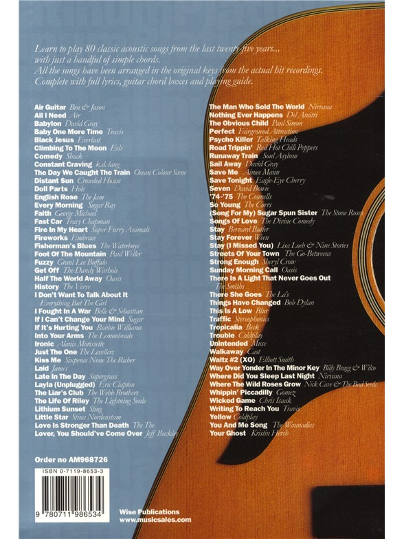The Big Acoustic Guitar Chord Songbook Platinum Edition Lyrics