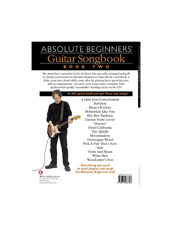 Absolute Beginners: Guitar Songbook - Book Two - Lyrics & Chords ...