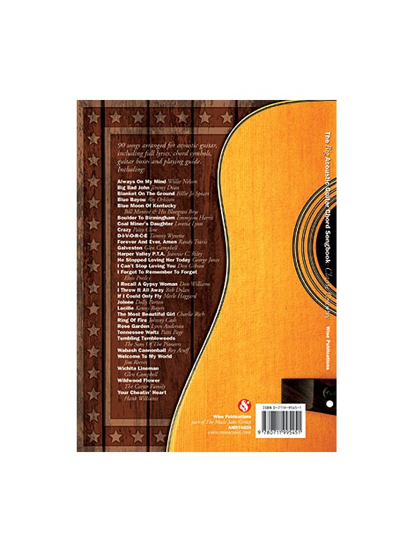 The Big Acoustic Guitar Chord Songbook Classic Country Lyrics