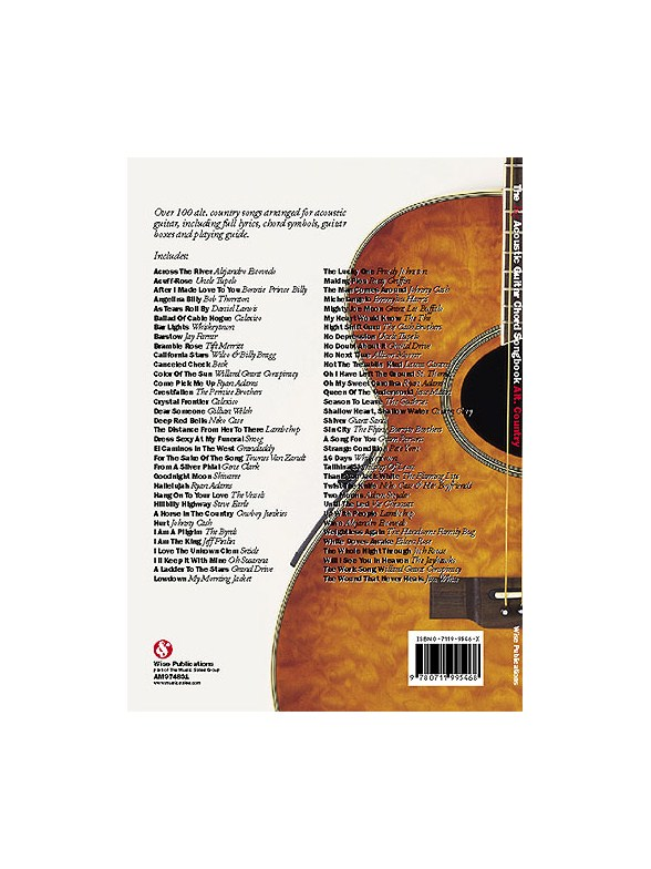 The Big Acoustic Guitar Chord Songbook: Alt.Country - Lyrics ...