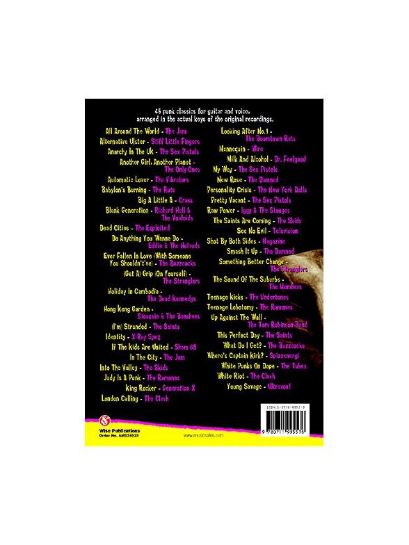 Punk Chord Songbook Lyrics Chords Sheet Music Sheet Music