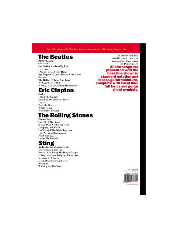 Great Rock For Bass Guitar Bass Guitar Sheet Music Sheet Music