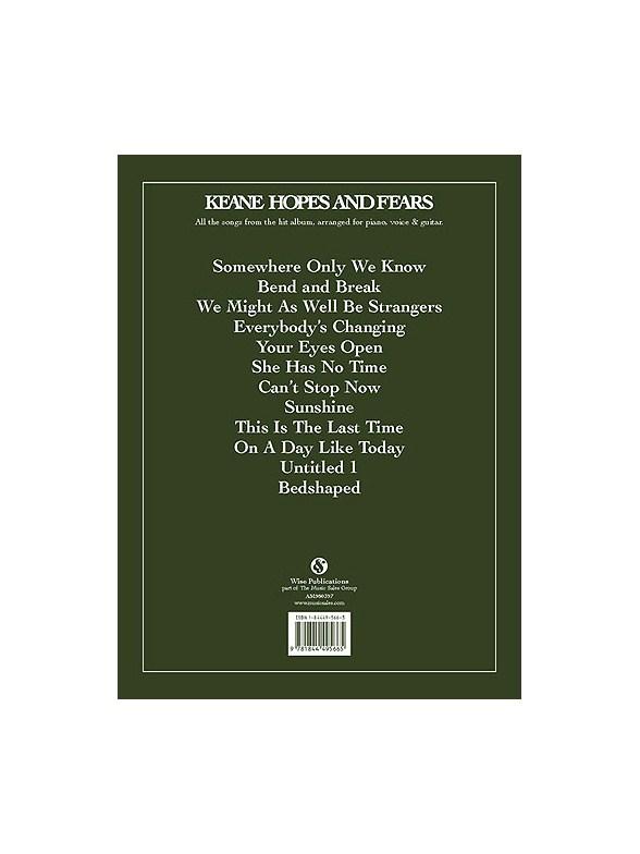 Keane: Hopes And Fears - Piano, Vocal & Guitar Sheet Music - Sheet ...