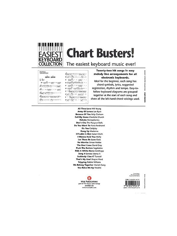 Easiest Keyboard Collection: Chart Busters! - Keyboard Sheet Music ...