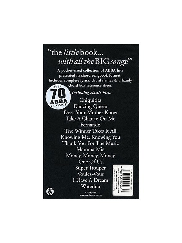 The Little Black Songbook: ABBA - Lyrics & Chords Sheet Music ...