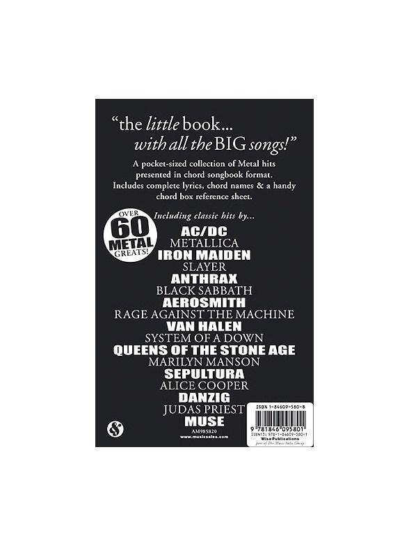 The Little Black Songbook: Metal - Lyrics & Chords Sheet Music ...