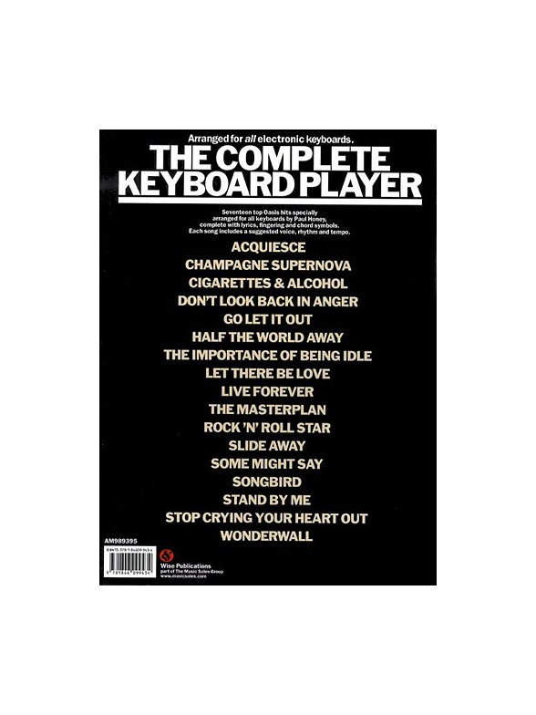 The Complete Keyboard Player: Oasis - Keyboard Sheet Music - Sheet ...