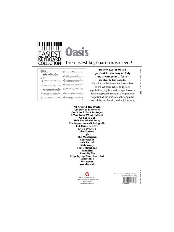 Easiest Keyboard Collection Oasis Keyboard Sheet Music Sheet