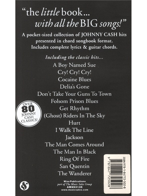 The Little Black Songbook Johnny Cash Lyrics Chords Sheet Music