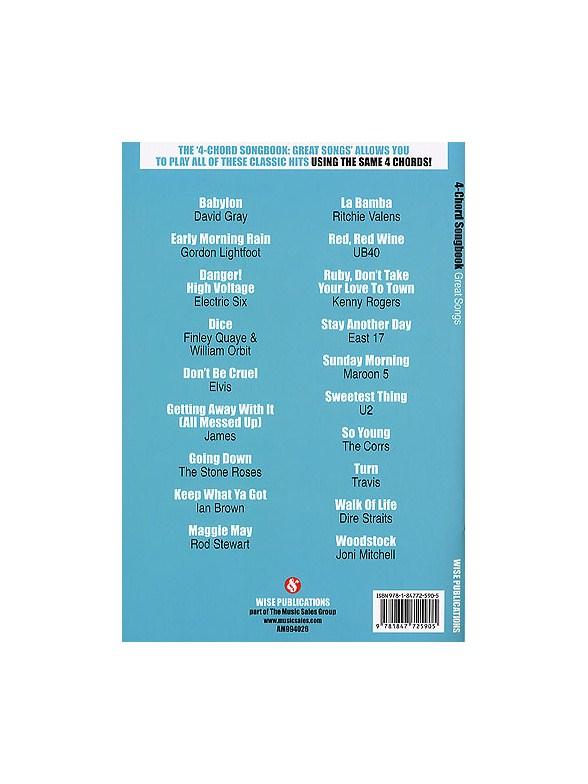 4-Chord Songbook: Great Hits - Guitar Sheet Music - Sheet Music ...