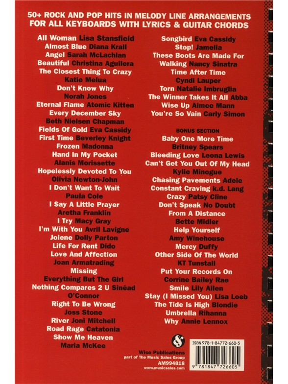 50 Rock And Pop Hits For Buskers The Red Book Guitar Sheet Music