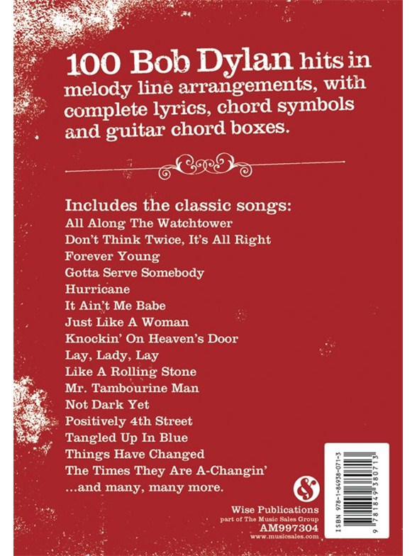 The Gig Book: Bob Dylan - Melody Line, Lyrics & Chords Sheet Music ...