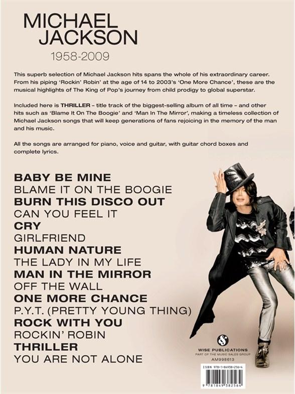 Michael Jackson: 1958 To 2009 - Piano, Vocal & Guitar Sheet Music ...