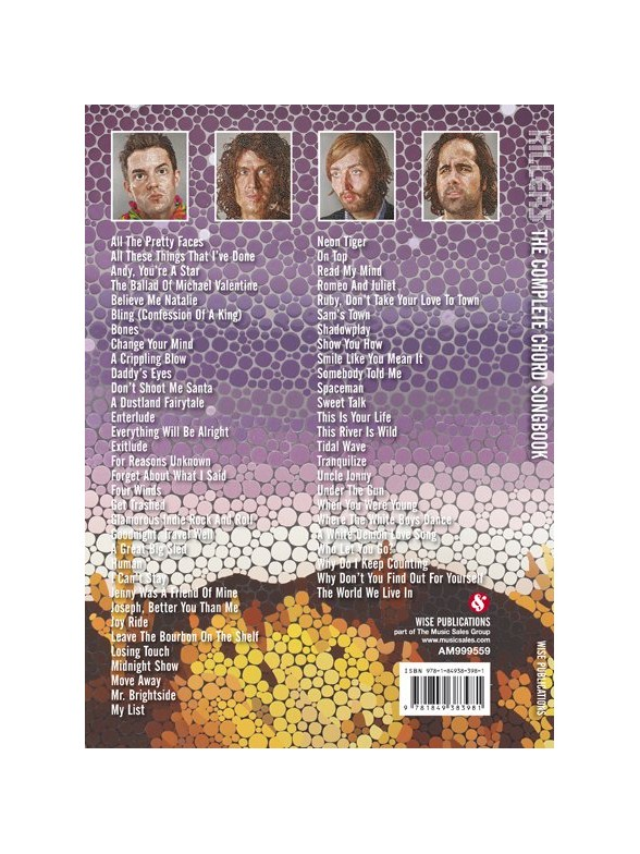 The Killers The Complete Chord Songbook Lyrics Chords Sheet