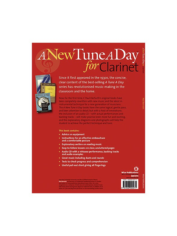 A New Tune A Day Clarinet Book 1 Cd Edition border=