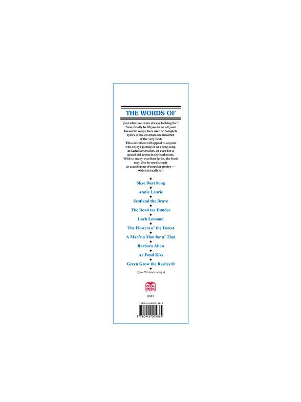 The Words Of 100 Scots Songs and Ballads - Piano Accompaniment Sheet ...