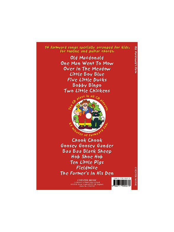 Old MacDonald\'s Farm - Melody Line, Lyrics & Chords Sheet Music ...