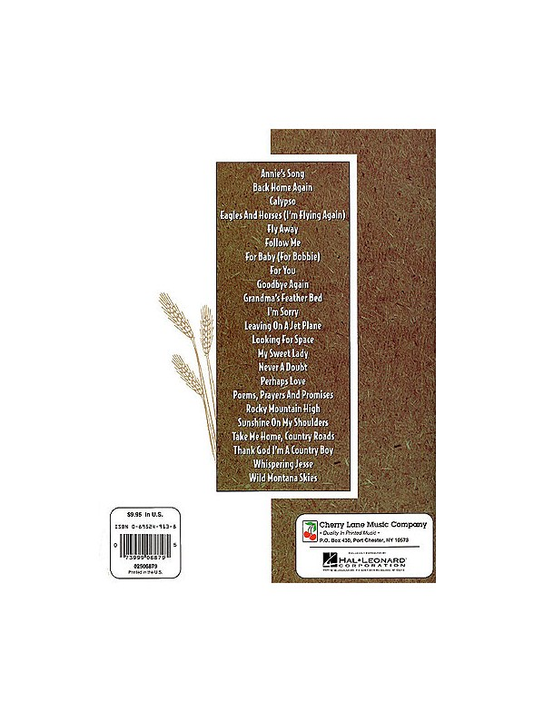 Best Of John Denver Easy Guitar - Melody Line, Lyrics & Chords Sheet ...