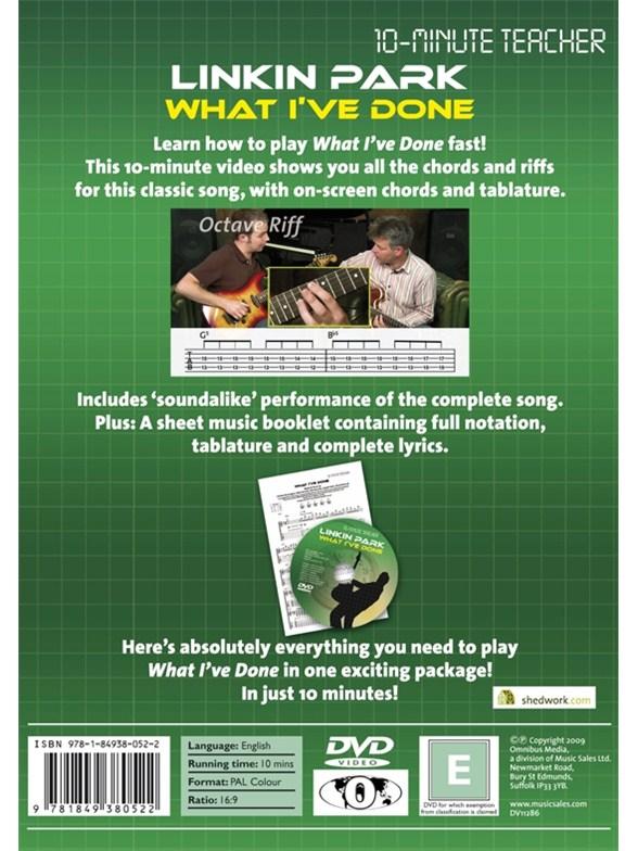 10-Minute Teacher: Linkin Park - What I\'ve Done - Guitar Books ...