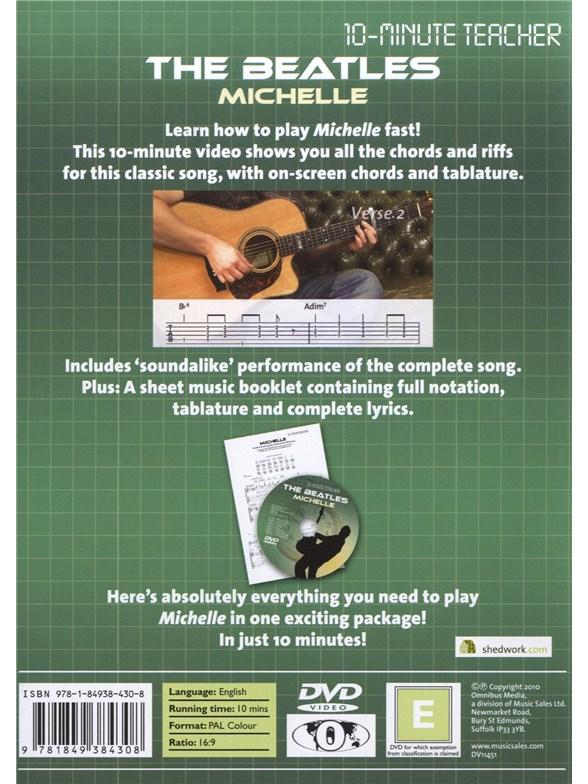 10 Minute Teacher The Beatles Michelle Guitar Books Tuition