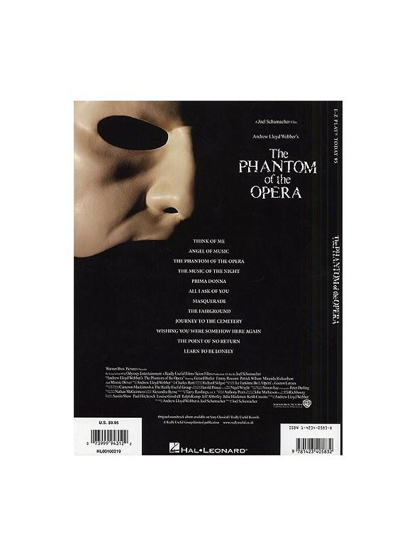 E-Z Play Today 95: Phantom Of The Opera - Movie Selections ...