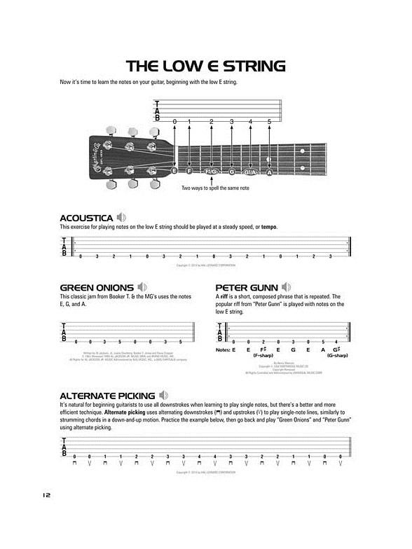 Hal Leonard Acoustic Guitar Tab Method – Book 1 (Book/Online Audio ...