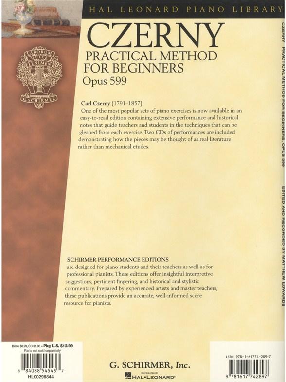 Carl Czerny Practical Method For Beginners Op 599