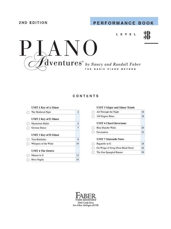 piano adventures level 3b performance book second. Black Bedroom Furniture Sets. Home Design Ideas