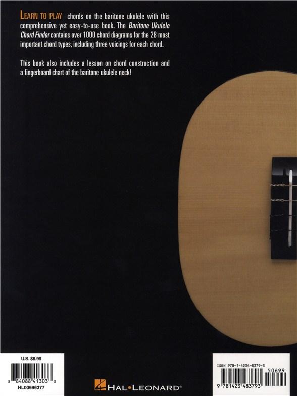 Hal Leonard Baritone Ukulele Chord Finder Ukulele Books Tuition