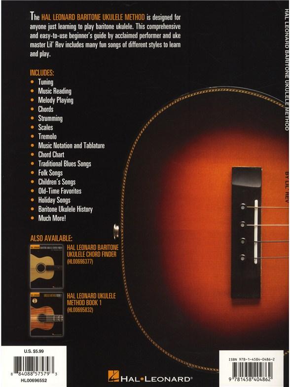 Hal Leonard Baritone Ukulele Method Book 1 Book Only Ukulele