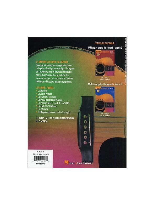 Hal Leonard Methode De Guitare Volume 1 (Deuxieme Edition Avec CD) Guitare Livres Méthodes
