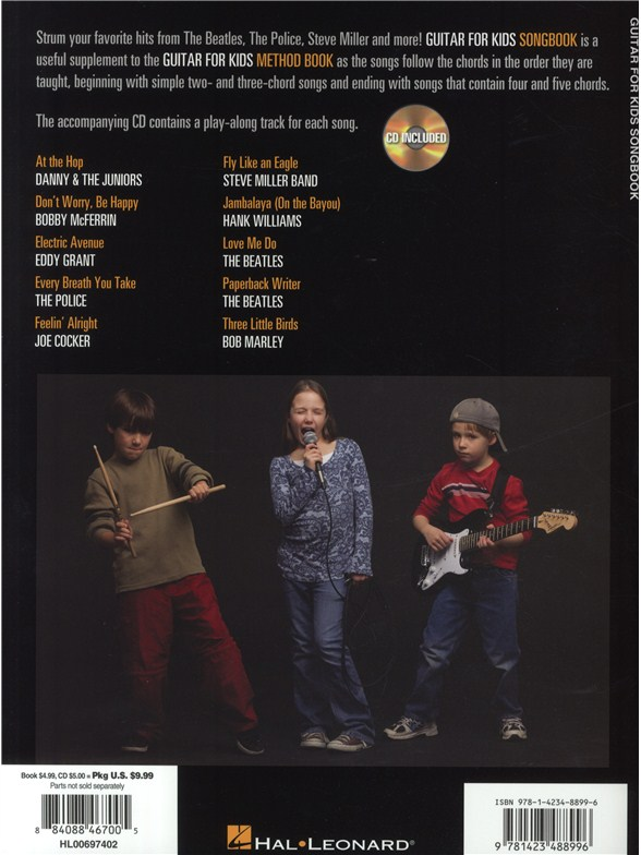 Hal Leonard Guitar Method Guitar For Kids Songbook Lyrics