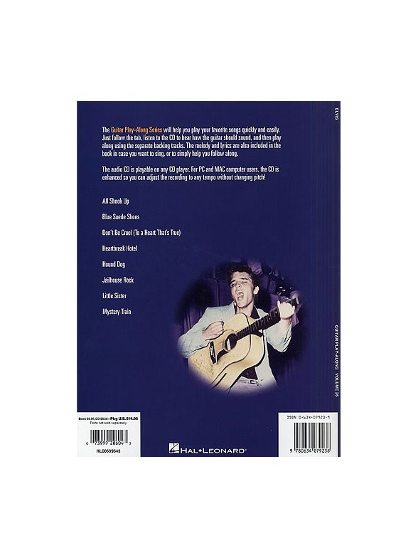 Guitar Play Along Volume 26 Elvis Presley Bookonline Audio