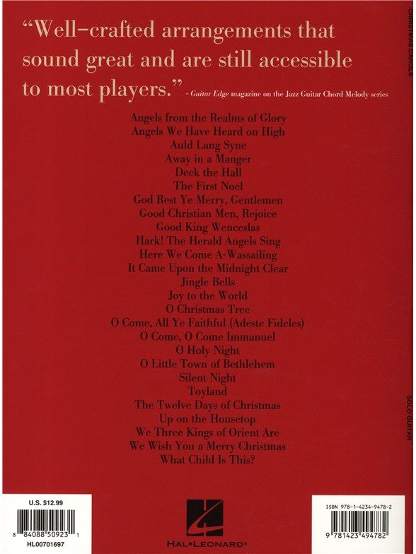 Christmas Carols Jazz Guitar Chord Melody Solos Guitar Sheet