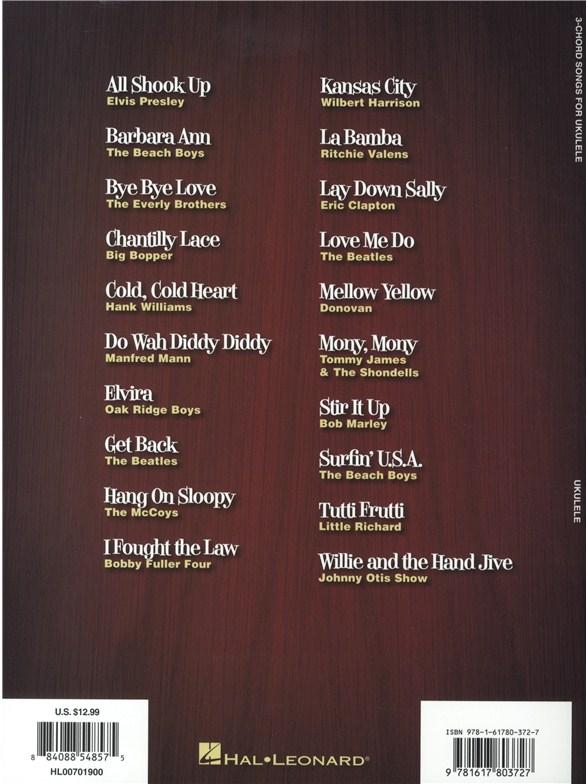 3 Chord Songs For Ukulele Ukulele Sheet Music Sheet Music