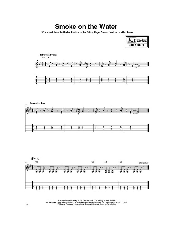 Graded Guitar Songs Book Online Audio Guitar Sheet