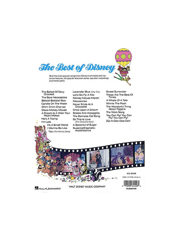 The Best Of Disney: Easy Piano - Piano, Vocal & Guitar Sheet Music ...