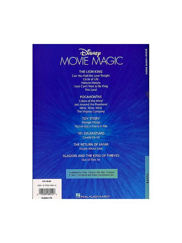 Disney Movie Magic Instrumental Solo Flute - Flute Sheet Music ...