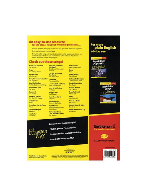 acoustic guitar songs for dummies pdf