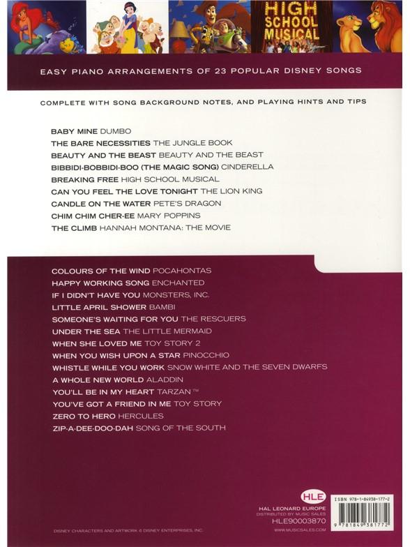 Really Easy Piano Disney Piano Sheet Music Sheet