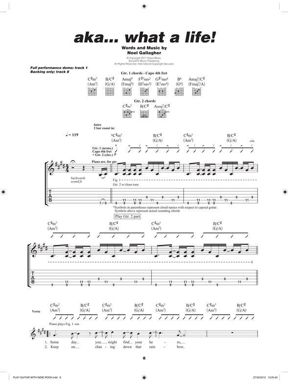 Play Guitar With Indie Rock Guitar Sheet Music Sheet Music