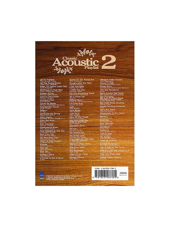 Classic acoustic playlist 2 tekst og becifring for Classic house playlist