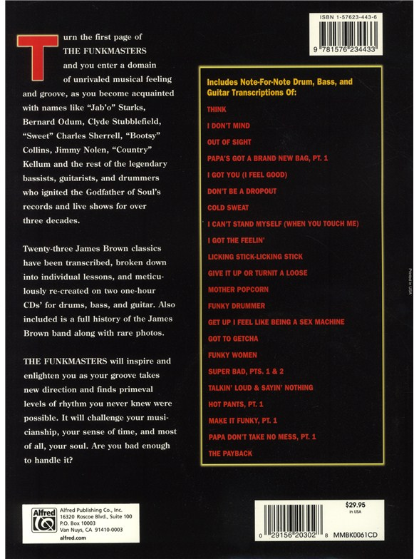 funkmasters.the.great.james.brown.rhythm.sections pdf