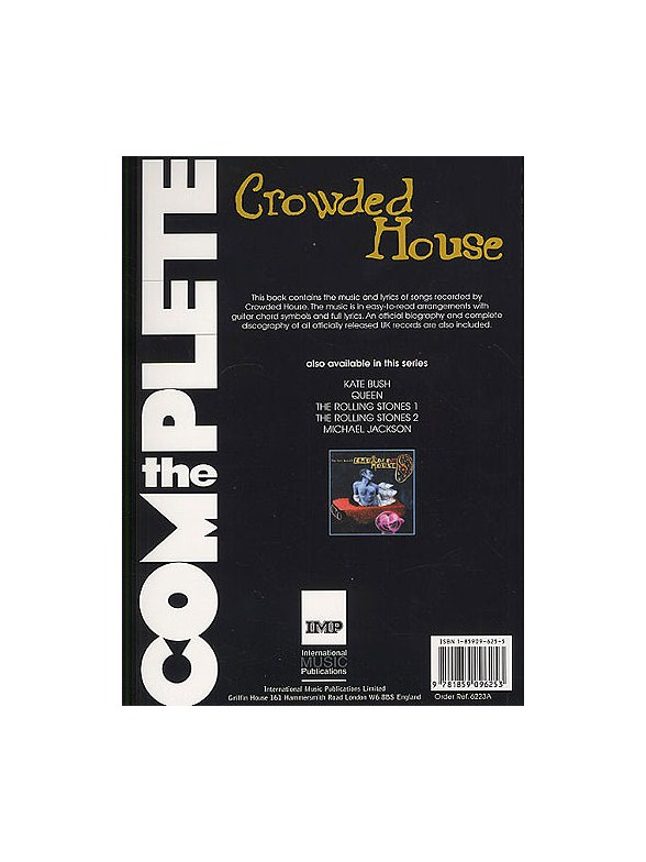 The Complete Crowded House - Melody Line, Lyrics & Chords Sheet ...