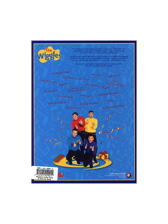 The Wiggles Party Song And Activity Book - Melody Line, Lyrics ...