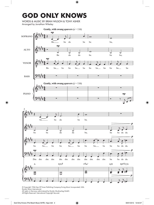 god only knows piano sheet music
